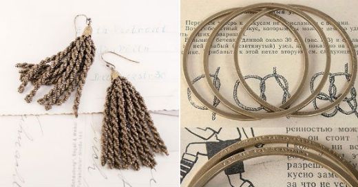 These Victorian Brass Beaded Tassel earrings and Word Up bangles from Erica Weiner are great examples of how to compliment your Peter Pan collar.